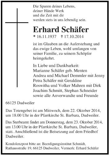 Zur Gedenkseite von Erhard