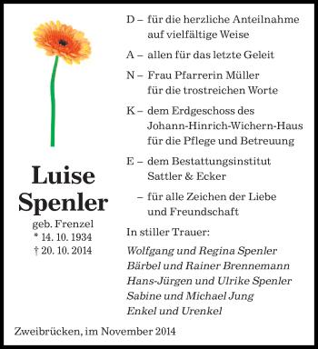 Zur Gedenkseite von Luise