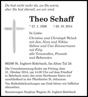 Zur Gedenkseite von Theo