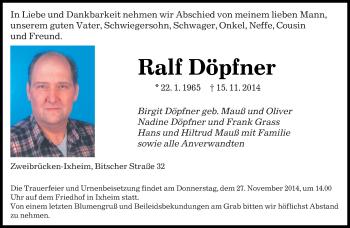 Zur Gedenkseite von Ralf