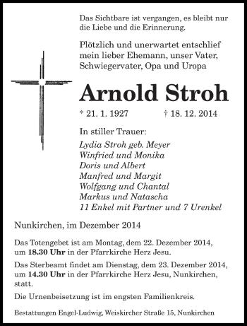Zur Gedenkseite von Arnold
