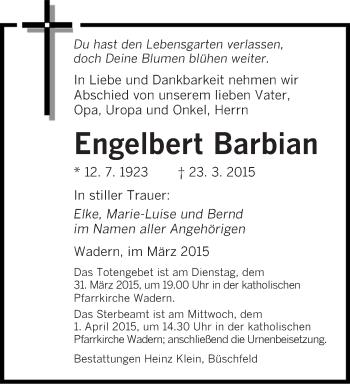 Zur Gedenkseite von Engelbert
