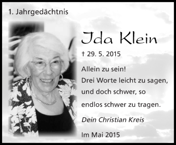 Zur Gedenkseite von Ida