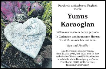 Zur Gedenkseite von Yunus