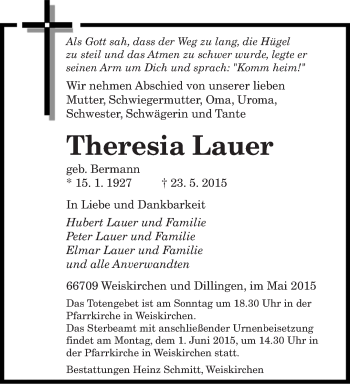 Zur Gedenkseite von Theresia