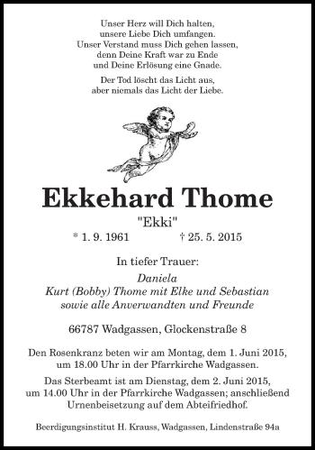 Zur Gedenkseite von Ekkehard