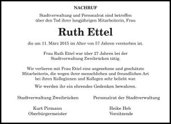 Zur Gedenkseite von Ruth