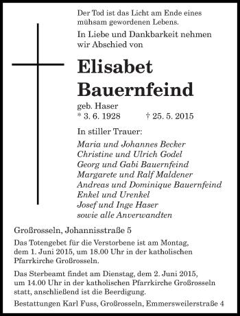 Zur Gedenkseite von Elisabet