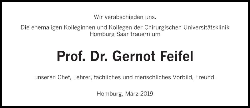 Traueranzeige für Gernot Feifel vom 16.03.2019 aus saarbruecker_zeitung
