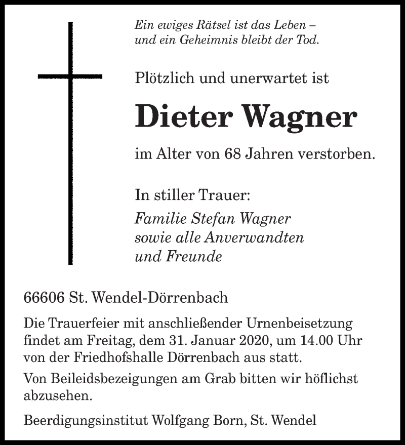 Http Www Saarbrücker Zeitung De Traueranzeigen
