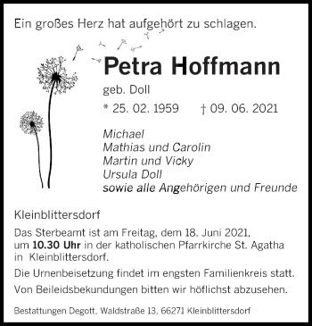 Traueranzeige von Petra Hoffmann von saarbruecker_zeitung